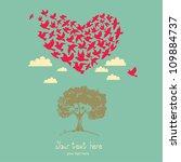 the heart of the birds. love...   Shutterstock .eps vector #109884737