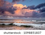 dramatic storm sky above indian ... | Shutterstock . vector #1098851837