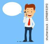 happy businessman using smart... | Shutterstock .eps vector #1098893393