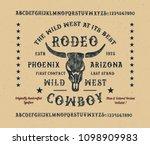 original handmade alphabet.... | Shutterstock .eps vector #1098909983