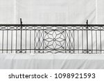 vintage cast iron fence at old... | Shutterstock . vector #1098921593