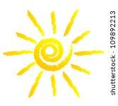 vector illustration of sun   Shutterstock .eps vector #109892213