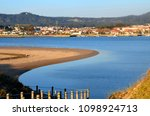 Small photo of Lima River(In Portugal, it has an approximate length of 66.9 km and a basin area of approximately 2 370.0 km²) ,Viana do Castelo landscape, Portugal
