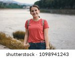 beautiful model in the wild... | Shutterstock . vector #1098941243