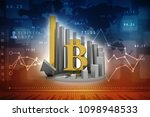 3d rendering bitcoin sign with... | Shutterstock . vector #1098948533