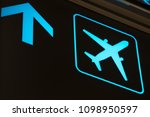 airport guideline icons or sign | Shutterstock . vector #1098950597