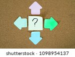 question mark and four arrow... | Shutterstock . vector #1098954137