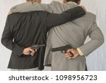behind the two businessmen... | Shutterstock . vector #1098956723
