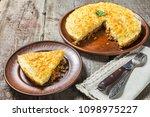english shepherd's pie. the...   Shutterstock . vector #1098975227