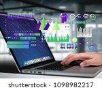view of a business interface... | Shutterstock . vector #1098982217