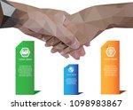 shake hand to business... | Shutterstock .eps vector #1098983867