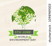 world environment day poster or ... | Shutterstock .eps vector #1098989003
