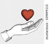 heart in hand | Shutterstock .eps vector #109899113
