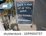 beer is made up of 97  water... | Shutterstock . vector #1099003757