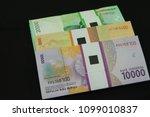 indonesian rupiah banknote as... | Shutterstock . vector #1099010837