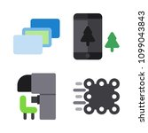 icons virtual reality with... | Shutterstock .eps vector #1099043843