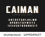 caiman trendy sans serif retro... | Shutterstock .eps vector #1099049657