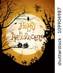 halloween illustration with... | Shutterstock . vector #109904987