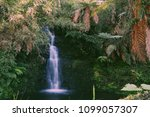 a small waterfall long exposure | Shutterstock . vector #1099057307