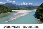 the tagliamento river  view... | Shutterstock . vector #1099060883