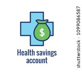 medical tax savings w health... | Shutterstock .eps vector #1099086587