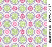 seamless flower fashion vector...   Shutterstock .eps vector #1099140437