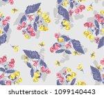 seamless flower fashion vector...   Shutterstock .eps vector #1099140443