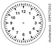 clock face for house  alarm ... | Shutterstock .eps vector #1099171013