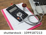 doctor to diagnose a disease... | Shutterstock . vector #1099187213