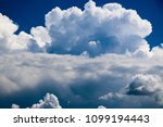 white clouds against the blue...   Shutterstock . vector #1099194443