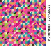 colorful illustration of mosaic ... | Shutterstock .eps vector #109920113
