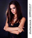 portrait of attractive sexy... | Shutterstock . vector #109921217
