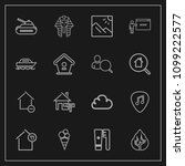 modern  simple vector icon set... | Shutterstock .eps vector #1099222577