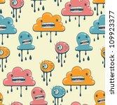 monsters modern seamless... | Shutterstock .eps vector #109923377