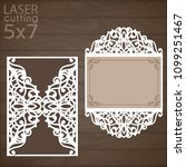 laser cut wedding invitation... | Shutterstock .eps vector #1099251467