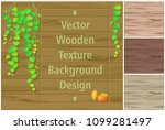 autumn leaves on a wooden board ... | Shutterstock .eps vector #1099281497