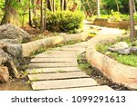 the walkway is made of clay. | Shutterstock . vector #1099291613