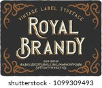 vintage decorative font named ... | Shutterstock .eps vector #1099309493