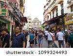 macao china   apr 13 2018 ruins ... | Shutterstock . vector #1099324493