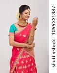 beautiful smiling indian bride...   Shutterstock . vector #1099331387