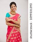 beautiful smiling indian bride...   Shutterstock . vector #1099331393
