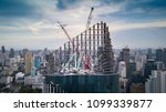 skyscraper construction.... | Shutterstock . vector #1099339877