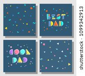 set of postcards and...   Shutterstock .eps vector #1099342913