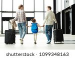 back view of parents and little ... | Shutterstock . vector #1099348163