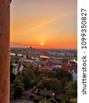 budapest panorama morning sunset | Shutterstock . vector #1099350827