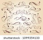 elegant floral design elements... | Shutterstock .eps vector #1099354133