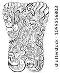 line thai water wave design for ... | Shutterstock .eps vector #1099356803