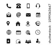 contact us icons. phone ...   Shutterstock .eps vector #1099363667