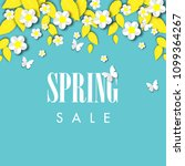 spring sale background with... | Shutterstock .eps vector #1099364267