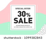 30  off special offer sale....   Shutterstock .eps vector #1099382843